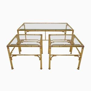 Tavoli ad incastro dorati di Chelsom, anni '80