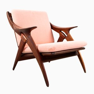 Dutch Knot Teak & Kvadrat Lounge Chair from De Ster Gelderland, 1960s