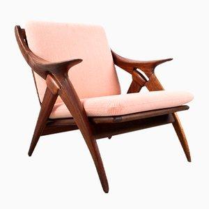 Dutch Knot Teak & Kvadrat Lounge Chair from De Ster Gelderland, 1960s