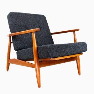 Dänischer Mid-Century Ulmenholz Sessel, 1960er