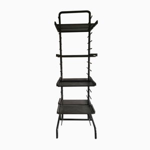 Antique Industrial Rack or Bookcase in Iron