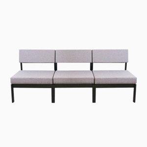 Set da salotto modulare vintage grigio chiaro di Willy Guhl per Dietiker & Co.