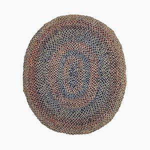 Handgeflochtener Amerikanischer Teppich, 1920er