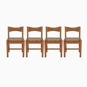 Hongisto Esszimmer Stühle von Illmari Tapiovaara für Laukaan Puu, 1970er, 4er Set