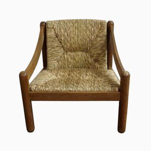 Vintage Carimate Lounge Chair by Vico Magistretti for Cassina