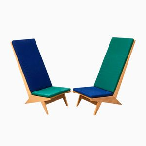 Vintage Italian Lounge Chairs, 1970s, Set of 2