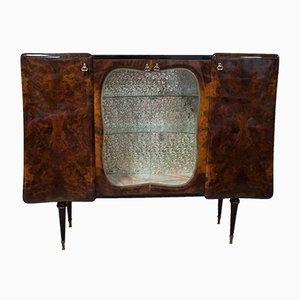 Burl Walnut Bar Cabinet, 1950s