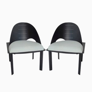 Asymmetrical Post-Modernist Side Chairs, 1980s, Set of 2