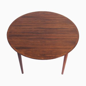 Model 55 Danish Rosewood Extendable Dining Table by Helge Sibast, 1958