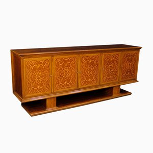 Italian Sideboard in Walnut, Maple and Mahogany, 1950s