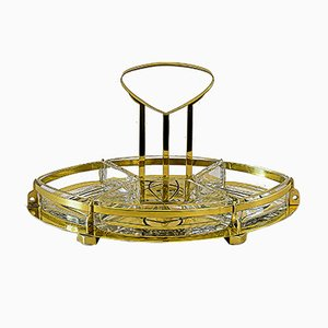 Antique Centerpiece with Glass and Handle