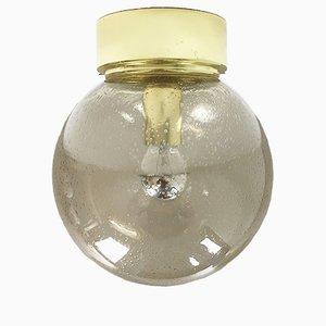 Glaskugel Deckenlampe von Glashütte, 1970er