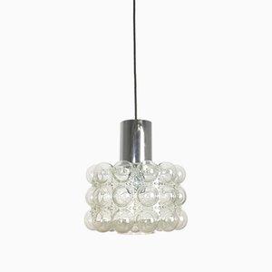 Grande Lampe à Suspension Mid-Century Moderne en Verre Bulle par Helena Tynell pour Glashütte