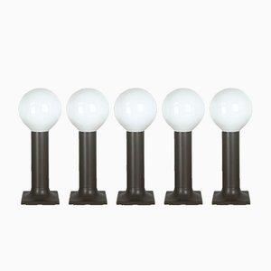 Röhren Wandlampen von Rolf Krüger für Staff Lights, 1970er, 5er Set
