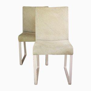 Italienische Vintage Stühle von Giovanni Offredi für Saporiti Italia, 1970er, 2er Set