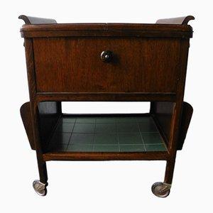 Tavolino mobile pieghevole, anni '30