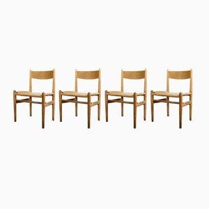 Mid-Century CH36 Stühle von Hans Wegner für Carl Hansen & Søn, 4er Set
