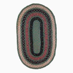 Handgeflochtener Amerikanischer Vintage Teppich, 1920er