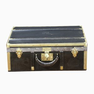 Vintage French Canvas and Brass Suitcase from Lavolaille, 1920s