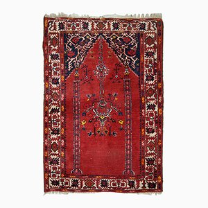 Vintage Handmade Turkish Anatolian Prayer Rug, 1940s
