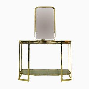 Table Console et Miroir, Italie, 1970s