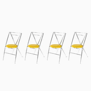 Cinderella Folding Chairs by Yamakado, 1980s, Set of 4