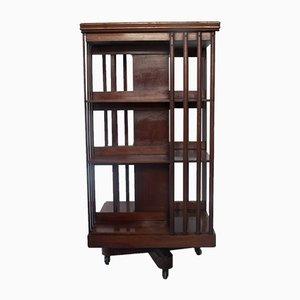 Mahogany Revolving Bookshelf, 1890s