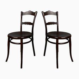 Antike N ° 100 Stühle von Michael Thonet, 2er Set