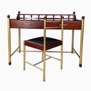 Vintage Jimmy Mahagoni Schreibtisch & Stuhl von Gautier