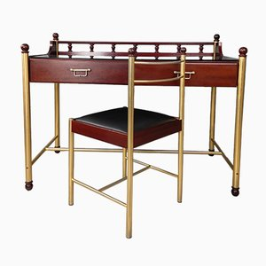 Vintage Jimmy Mahogany Desk & Chair from Gautier