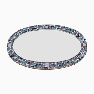Large Oval Mosaic Tiled Mirror, 1968