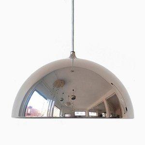 Lampada a sospensione vintage a forma di cupola cromata di Florian Schulz, Germania, anni '70