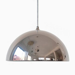 Vintage German Chrome Dome Pendant by Florian Schulz, 1970s