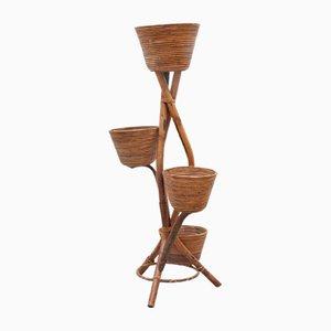 Vaso vintage in bambù, Francia, anni '50