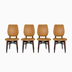 Dänische Mid-Century Stühle, 1960er, 4er Set