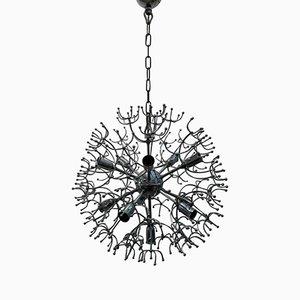 11-Leuchten Sputnik Kronleuchter, 1960er