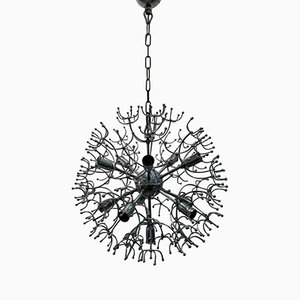 Lustre Sputnik à Onze Lampes par Gaetano Sciolari, 1960s
