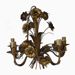 Hollywood Regency Floral Chandelier, 1960s