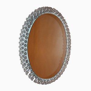 Specchio ovale con luce di Zierform, anni '50