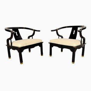 Mid-Century Armlehnstühle mit Rückenlehne in Hufeisen-Form, 1960er, 2er Set