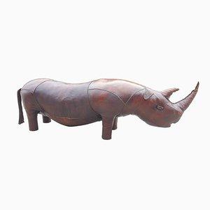 Banco Rhinoceros grande de cuero de Valenti, años 60