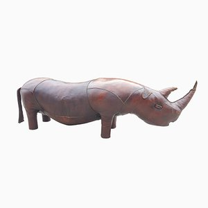Large Leather Rhinoceros Bench from Valenti, 1960s
