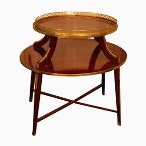 Ovaler Tisch mit Ablage, 19. Jh.
