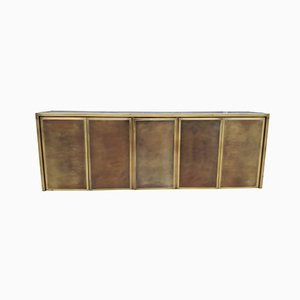 Brass Credenza from Belgo Chrom, 1970s