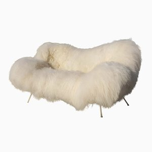 Sheepskin Sofa from Fritz Neth, 1950s