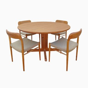 Danish Oak Dining Table and Chairs Set by Niels Otto (N. O.) Møller, 1960s