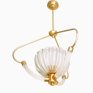 Lámpara colgante de Ercole Barovier para Barovier & Toso, años 60