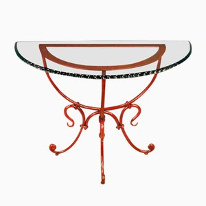 French Half Moon Console Table, 1980s