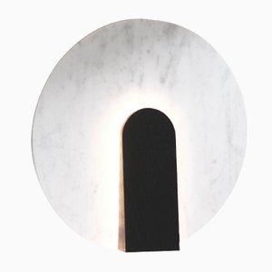 Lampe de Bureau Lune en Marbre et Bois Teinté par Violaine d'Harcourt, 2016