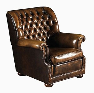 Brown Leather Pegasus Armchair from Art Forma Upholstery Ltd, 1970s